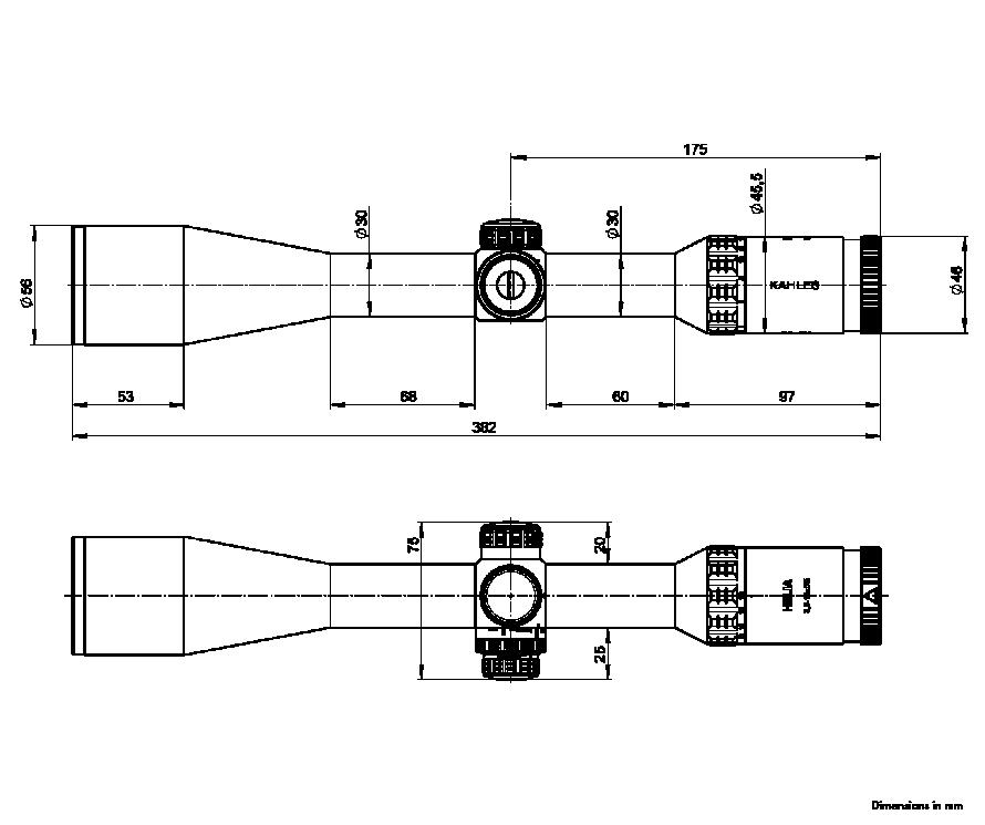 HELIA 3,5-18x50i Measurements
